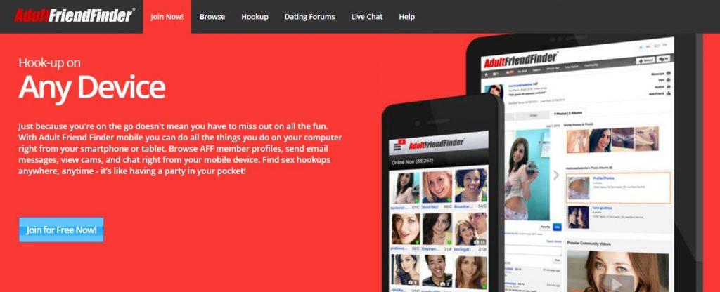 Adultfriendfinder page standard login