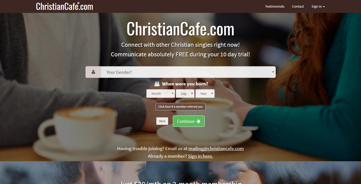 Christiancafe login