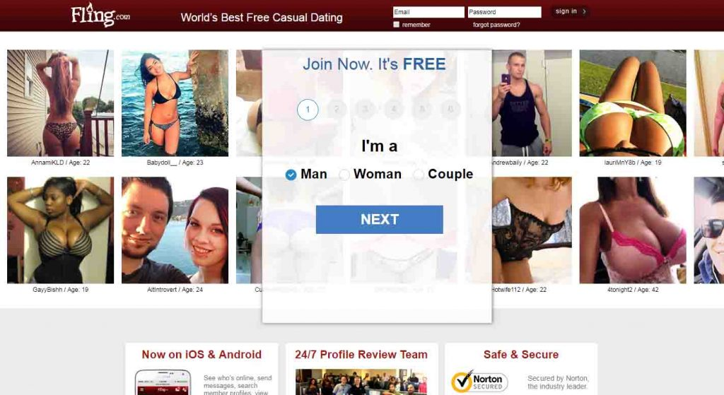 Free dating sites for casual