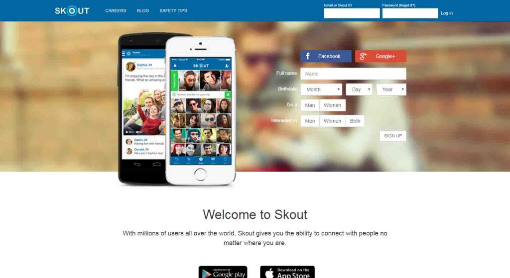 Skout dating sign in